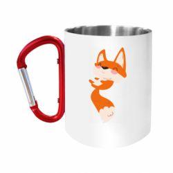 """Кружка с ручкой """"карабин"""" Happy fox"""