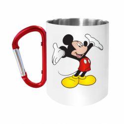 Кружка з ручкою-карабіном Happy Mickey Mouse