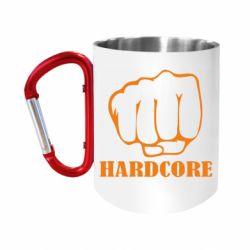 "Кружка с ручкой ""карабин"" hardcore"