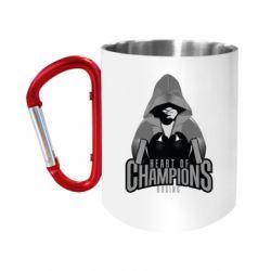 """Кружка с ручкой """"карабин"""" Heart of Champions"""