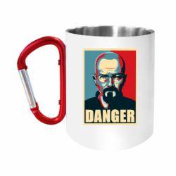 Кружка з ручкою-карабіном Heisenberg Danger