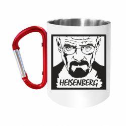 Кружка з ручкою-карабіном Heisenberg face