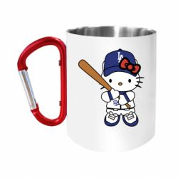 Кружка з ручкою-карабіном Hello Kitty baseball