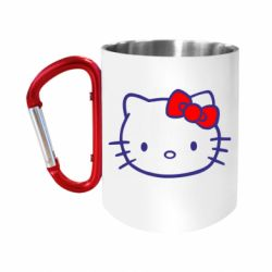 "Кружка с ручкой ""карабин"" Hello Kitty logo"