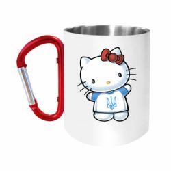 """Кружка с ручкой """"карабин"""" Hello Kitty UA"""