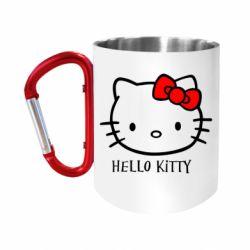 "Кружка с ручкой ""карабин"" Hello Kitty"