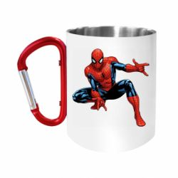 """Кружка с ручкой """"карабин"""" Hero Spiderman"""