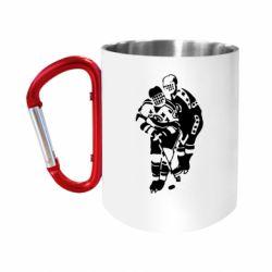 Кружка з ручкою-карабіном Хокеїсти