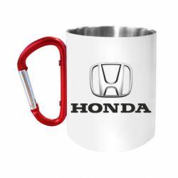 """Кружка с ручкой """"карабин"""" Honda 3D Logo"""