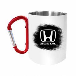 Кружка з ручкою-карабіном Хонда арт, Honda art