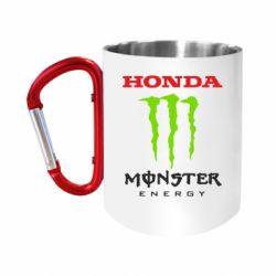 Кружка з ручкою-карабіном Honda Monster Energy