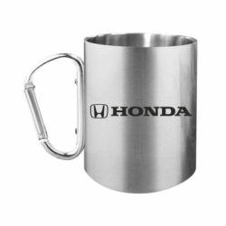 """Кружка с ручкой """"карабин"""" Honda Small Logo"""