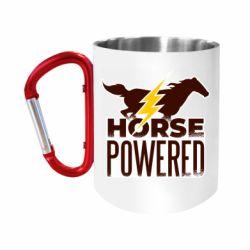 """Кружка с ручкой """"карабин"""" Horse power"""