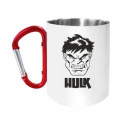 Кружка з ручкою-карабіном Hulk face