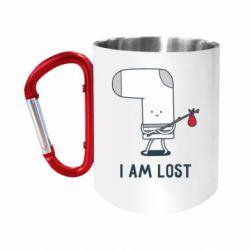 Кружка з ручкою-карабіном I am lost