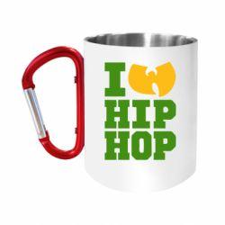 """Кружка с ручкой """"карабин"""" I love Hip-hop Wu-Tang"""