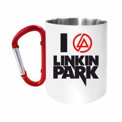 "Кружка с ручкой ""карабин"" I love Linkin Park"