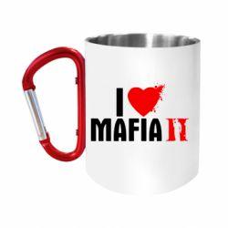 """Кружка с ручкой """"карабин"""" I love Mafia 2"""