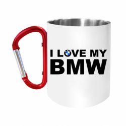 Кружка з ручкою-карабіном I love my BMW