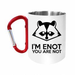 """Кружка с ручкой """"карабин"""" I'm ENOT"""