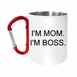 Кружка з ручкою-карабіном I'm mom. i'm boss.