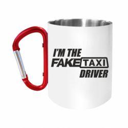 """Кружка с ручкой """"карабин"""" I'm the Fake Taxi Driver"""