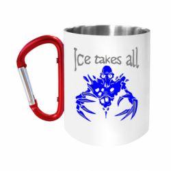 "Кружка с ручкой ""карабин"" Ice takes all Dota"