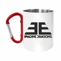 """Кружка с ручкой """"карабин"""" Imagine Dragons Evolve simbol"""