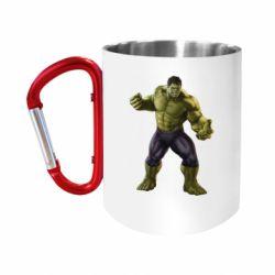 Кружка з ручкою-карабіном Incredible Hulk 2