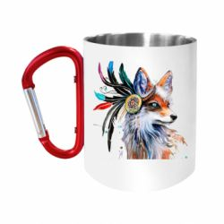 Кружка з ручкою-карабіном Indian Fox