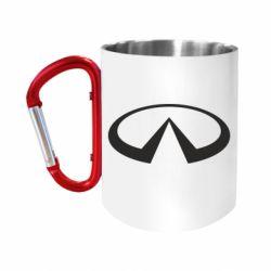 """Кружка с ручкой """"карабин"""" Infiniti logo"""