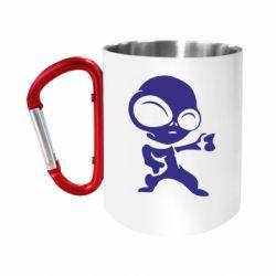 Кружка з ручкою-карабіном Інопланетянин