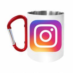 Кружка з ручкою-карабіном Instagram Logo Gradient