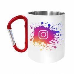 """Кружка с ручкой """"карабин"""" Instagram spray"""