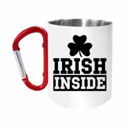 """Кружка с ручкой """"карабин"""" Irish Inside"""