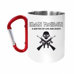 Кружка з ручкою-карабіном Iron Maiden