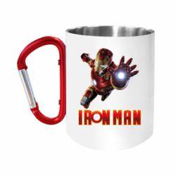 Кружка з ручкою-карабіном Iron Man 2