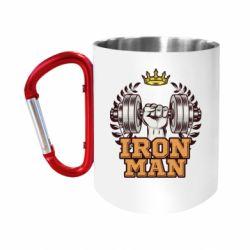 Кружка з ручкою-карабіном Iron man and sports