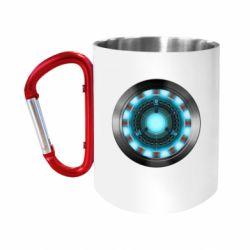 """Кружка с ручкой """"карабин"""" Iron Man Device"""