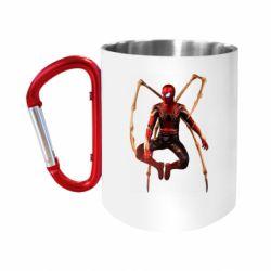 Кружка з ручкою-карабіном Iron man spider