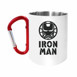 Кружка з ручкою-карабіном Iron man text