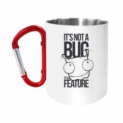 "Кружка с ручкой ""карабин"" It's not a bug it's a feature"