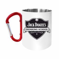 "Кружка с ручкой ""карабин"" Jack Daniel's Drinkin School"