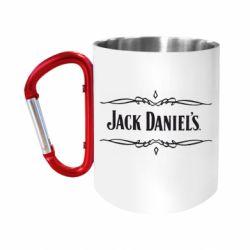 """Кружка с ручкой """"карабин"""" Jack Daniel's Logo"""