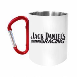 Кружка з ручкою-карабіном Jack daniel's Racing
