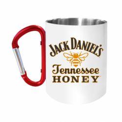 """Кружка с ручкой """"карабин"""" Jack Daniel's Tennessee Honey"""