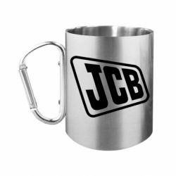 Кружка з ручкою-карабіном JCB