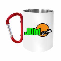 "Кружка с ручкой ""карабин"" JDM Style"