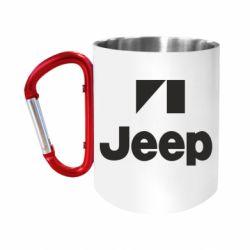 """Кружка с ручкой """"карабин"""" Jeep Logo"""
