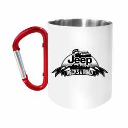 "Кружка с ручкой ""карабин"" Jeep rocks"